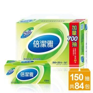 倍潔雅超質感抽取式衛生紙150抽14包6袋