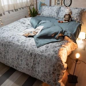 墨斑- 60支天絲 【雙人】鋪棉床包+兩用被四件組 100%天絲