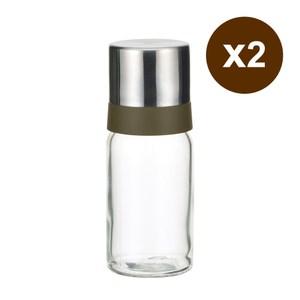 日本iwaki 耐熱玻璃油罐(120ml,附金屬蓋)2入組