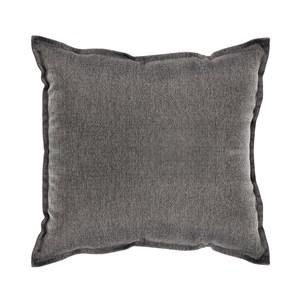 HOLA 素色織紋抱枕50x50cm炭灰色