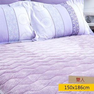 HOLA Super Hot 發熱法蘭絨防靜電兩用保暖墊 雙人 紫