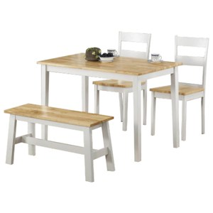 【YFS】Eden原木白色3.8尺餐桌椅組114x68x74cm(一桌