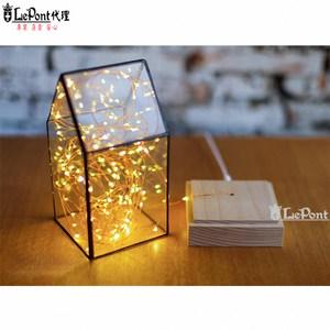 USB LED 創意火樹銀花夜燈-房子型