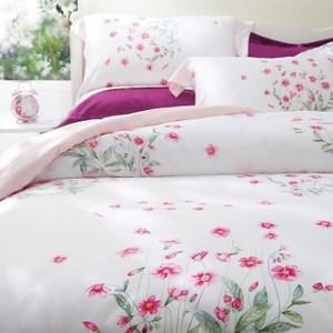 HOLA home多芬戀曲木棉絲床包兩用被組 加大