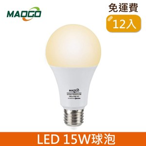 HONEY COMB Maogo LED15W廣角度球泡12入TB815Y-12 / 黃光