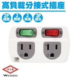 威電牌 WT-0834 高負載分接式插座