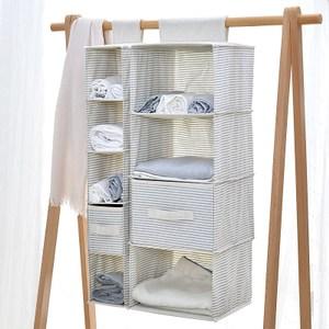 日式布質衣物收納袋-簡約線條(大)