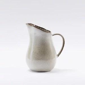 Bloomingville手感灰色陶作水壺(牛奶壼)