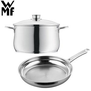 【德國WMF】DIADEM PLUS 平底煎鍋24cm+高身湯鍋24cm