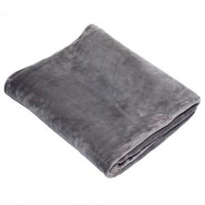 時尚法蘭絨毯霧灰