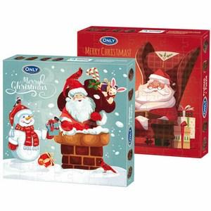 波蘭Gunz聖誕拼圖牛奶夾心巧克力120g  混款
