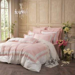 IN HOUSE-膠原蛋白加大薄被套床包組(粉色)