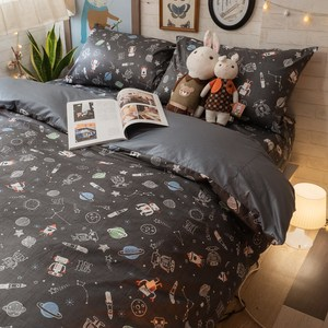 【棉床本舖】星際銀河 100%精梳棉 雙人床包+被套 4件組