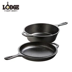 【美國Lodge】鑄鐵多用途雙鍋組3Q/2.85公升