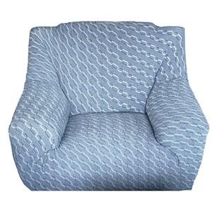 色織彈性三人沙發套210x100cm 藍色