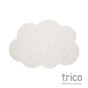 日本Trico 雲朵雨滴瞬吸珪藻土地墊55x38cm(灰)