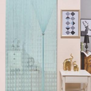 金格拉斯鑽石銀蔥雙層線簾90X180cm水藍