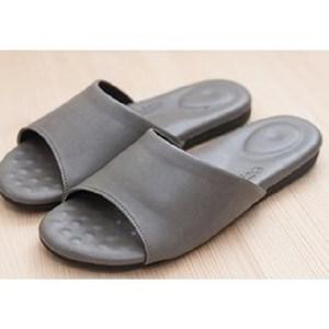 (e鞋院)健康機能乳膠拖鞋-灰灰27CM
