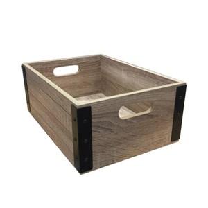布納手做大木箱 橡木色