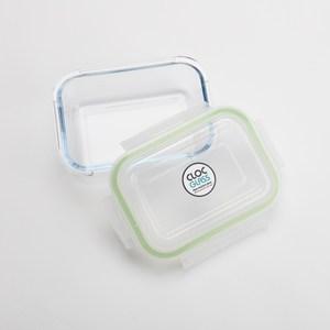 NEOFLAM耐熱玻璃保鮮盒長方形-640ml(蘋果綠)