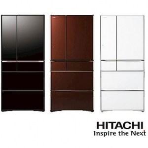 日立 HITACHI RG680GJ  676公升變頻六門冰箱  棕色