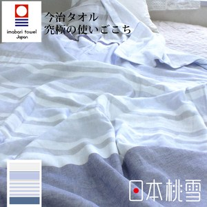 日本桃雪【今治毛巾被】月光藍
