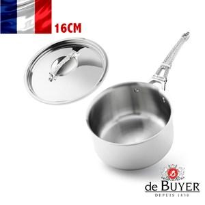 法國【de Buyer】畢耶鍋具『藍嶽頂級不鏽鋼系列』單柄調理鍋 16cm (含
