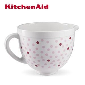 【KitchenAid】5Q陶瓷攪拌盆(粉紅點點)