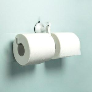 dipper│強力吸盤壁掛(中)-雙筒衛生紙架套組