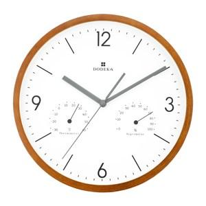 Dodeka|馬卡龍 溫濕度計 靜音 時鐘 掛鐘(白)