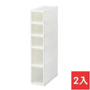 日本JEJ 移動式抽屜隙縫櫃-18cm寬 2入 S3M2