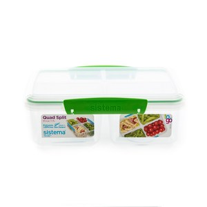 SISTEMA TO GO™ 扣式保鮮盒 4格 1.7L 型號21740