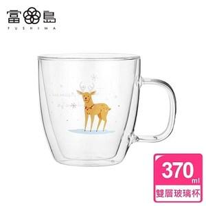【FUSHIMA 富島】聖誕Joy樂摯雙層耐熱玻璃杯麋鹿款(把手)單一規格