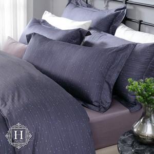 【HOYACASA】繁星夜曲加大四件式300織長纖細棉被套床包組