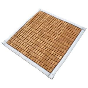 光洵炭化麻將竹坐墊 單人 50x50cm 布繩