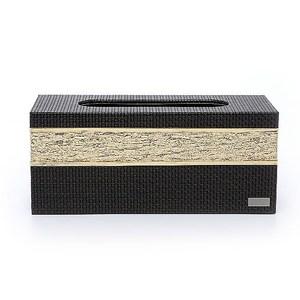 【Finara 費納拉】溫莎公爵黑金-桌上型擦手紙巾專用盒/面紙盒