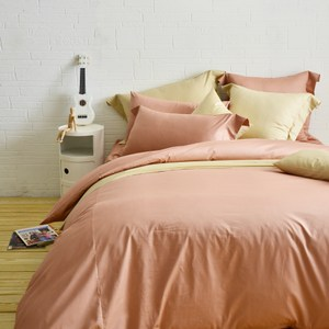 Cozy inn簡單純色-200織精梳棉被套-雙人(多款顏色任選)梅子咖