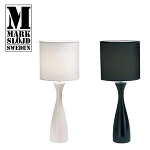 【Markslojd】VADUZ華杜斯流線陶瓷桌燈黑座黑罩流線桌燈