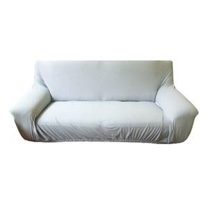 HOLA 素色彈性三人沙發套 湖藍