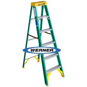 美國Werner穩耐絕緣梯-5906AS玻璃鋼單側人字梯/FRP梯