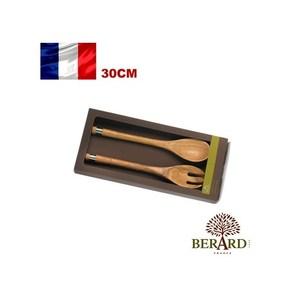 法國【Berard】畢昂原木食具『ACERO系列』橄欖木料理叉匙組30cm-2入