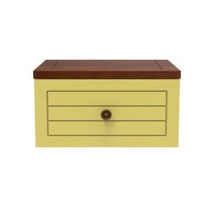 實木創意自由組合櫃-黃綠色