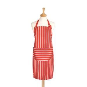 英國dexam 經典條紋連身圍裙(紅)
