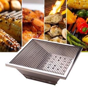 樂生活 專利1秒收納超薄不鏽鋼烤肉爐/烤肉架(附收納套)~中秋/野餐/露營必備