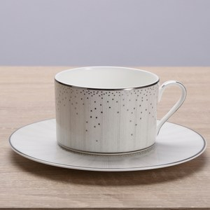 HOLA home 亞麻星辰骨瓷咖啡杯碟組