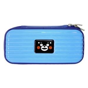 Kumamon酷MA萌 多用途輕巧硬殼收納包/過夜包/盥洗包-淺藍