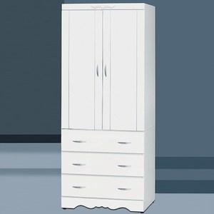 【YFS】伯特3x7白色3抽衣櫃-76x57x200cm