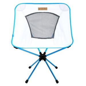 【OutdoorBase】25742-AMOEBA-360度鋁合金旋轉椅-雅典白