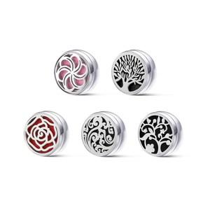 [特價]富士雅麗FUJI-GRACE 口罩磁性香氛扣(內附精油芯片x8)4入玫瑰花x4