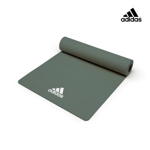 Adidas輕量波紋瑜珈墊 - 8mm (草原綠)